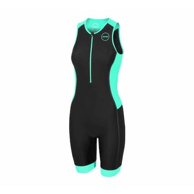 Zone3 Aquaflo Plus Trisuit Dames – Zwart/Mint Groen