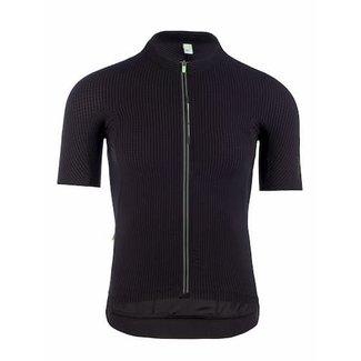 Q36.5 Cycling Clothing Q36.5 Pinstripe X Kurzarm-Radhemd Schwarz Männer