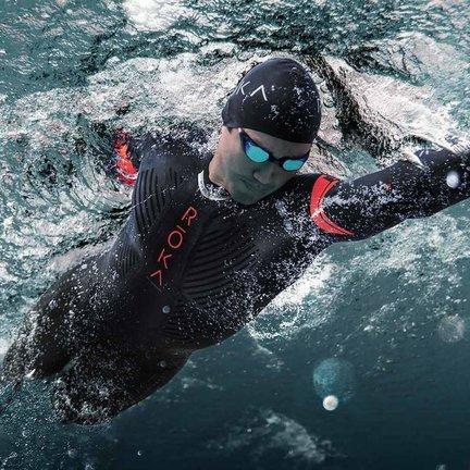 Neoprene wetsuits, shorts and swim run