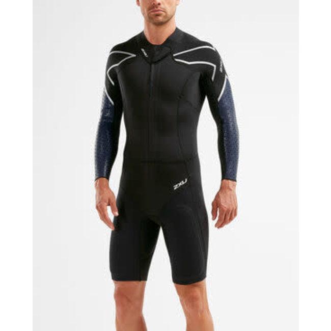 2XU Swim Run SR1 Wetsuit Heren Zwart / Surf Blauw