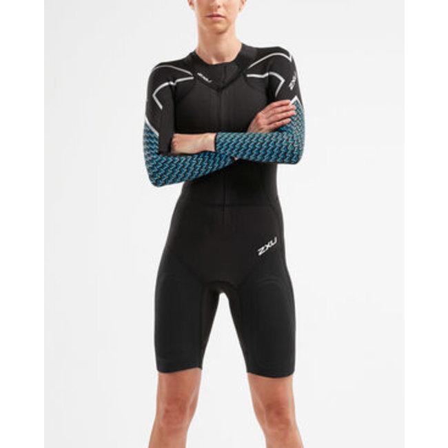 2XU Swim Run SR1 Wetsuit Dames Zwart / Blauw