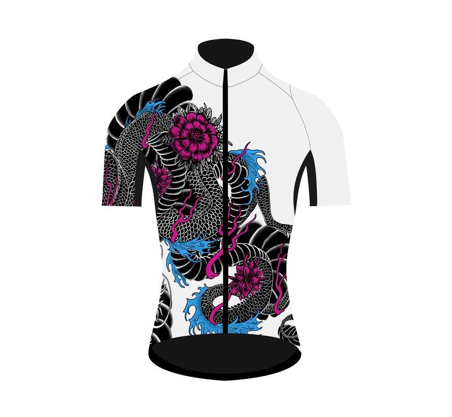Q36.5 Maillot de vélo Dragon manches courtes pour femmes