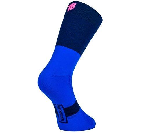 Sporcks Calcetines de ciclismo Marie Blanque Pro Elite Azul