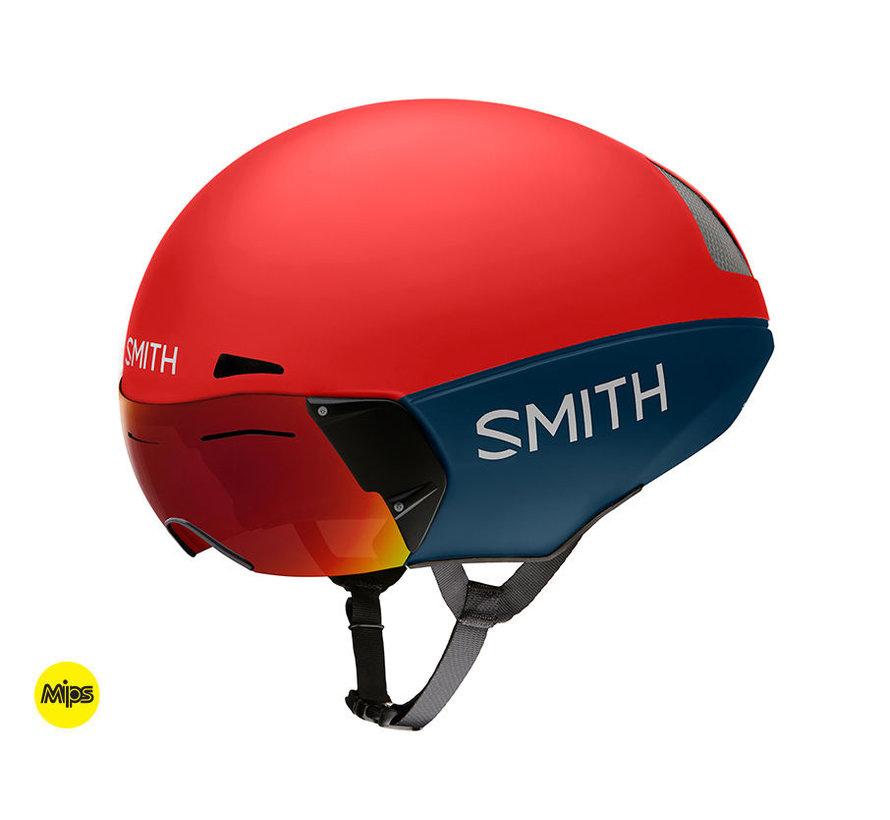 Casco de prueba Smith Podium TT Time Rojo