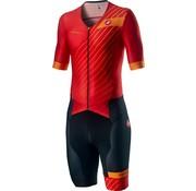 Castelli Castelli Free Sanremo Trisuit Short Sleeve Heren Rood