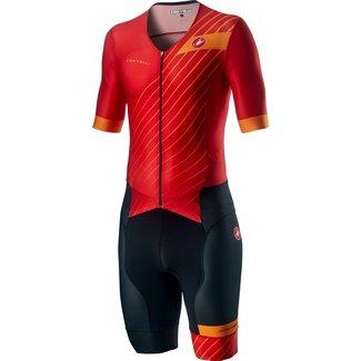 Castelli Castelli Free Sanremo Suit Short Sleeve mens Red