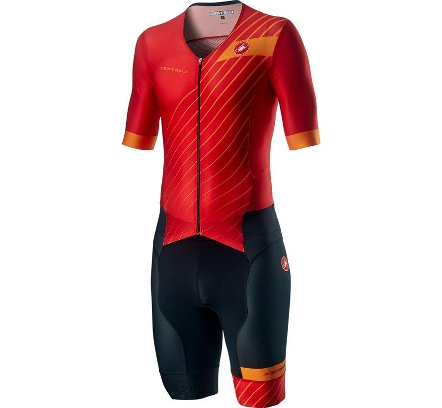 Castelli Free Sanremo Trisuit Short Sleeve Heren Rood