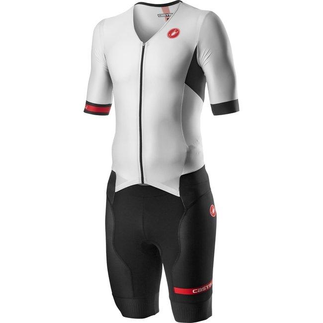Castelli Free Sanremo Trisuit Short Sleeve Heren Wit/Zwart