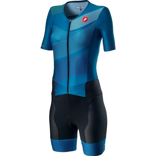 Castelli Free Sanremo Trisuit Short Sleeve Dames Blauw