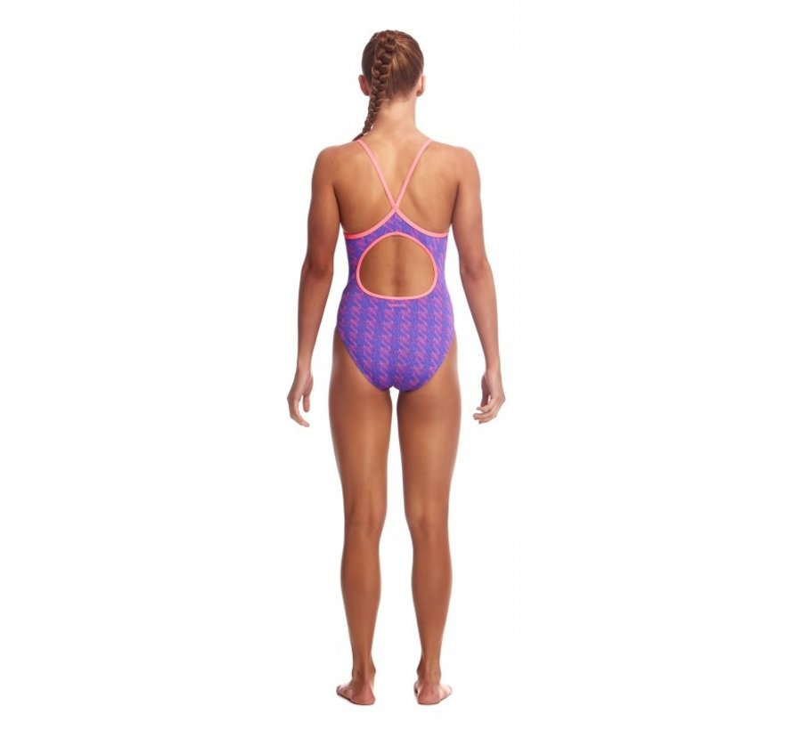 Funkita One Piece Diamond Back Badpak Dames Tetris Time