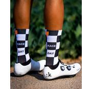 Sporcks Sporcks Race Day Blanco y negro Calcetines de bicicleta