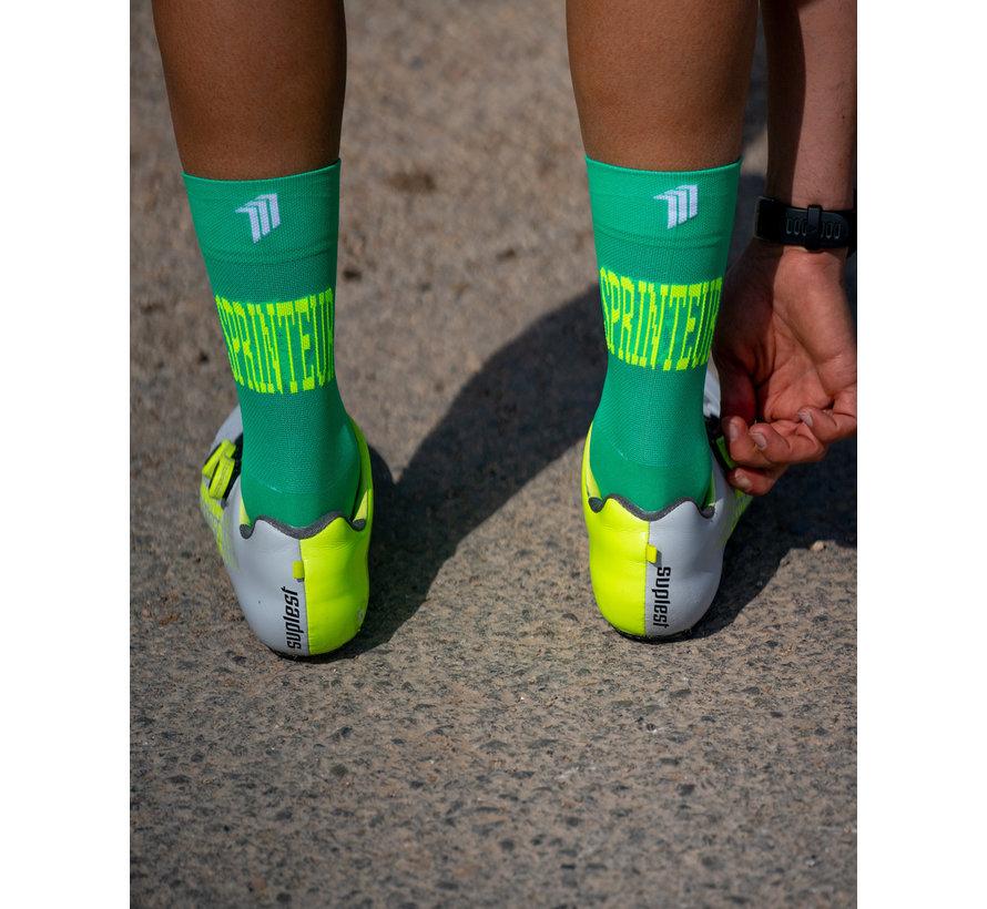 Sporcks Sprinteur Verde Calcetines de bicicleta