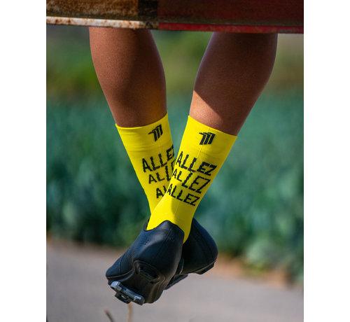 Sporcks Sporcks Allez Amarillo calcetines de bicicleta