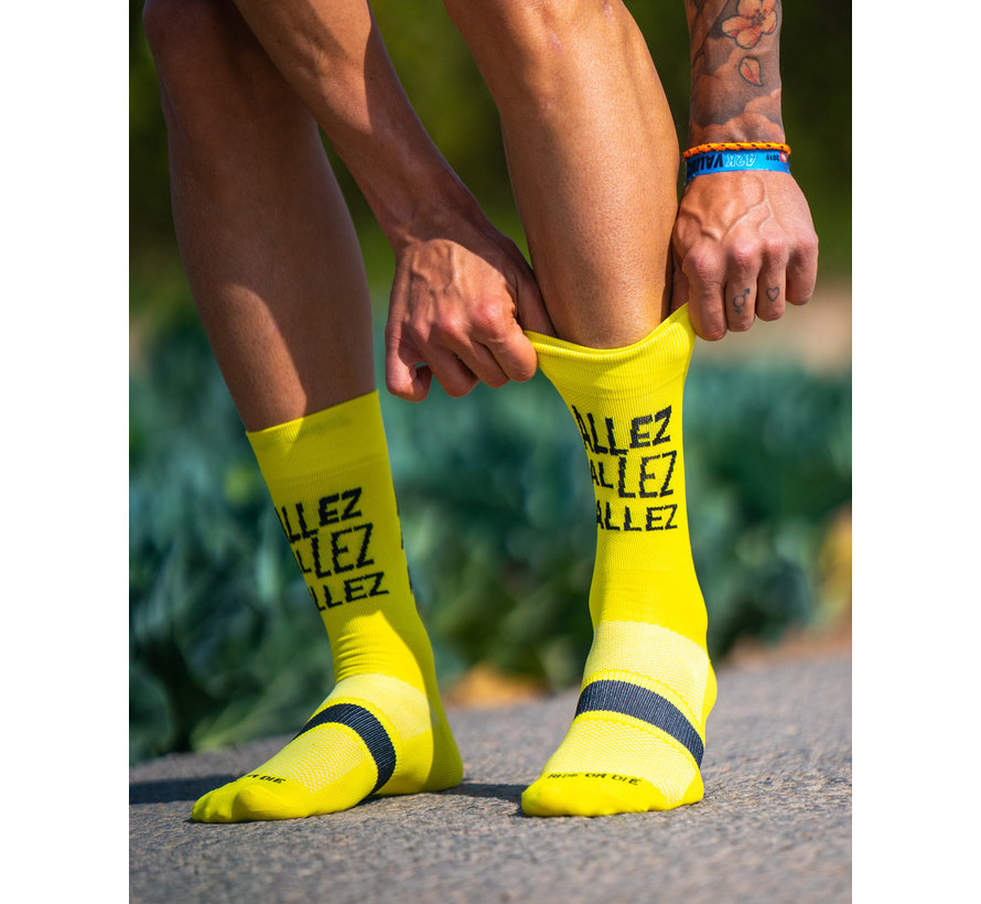 Sporcks Allez Amarillo calcetines de bicicleta