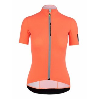 Q36.5 Cycling Clothing Q36.5 Pinstripe X Kurzarm-Radsporthemd Coral Damen