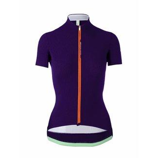 Q36.5 Cycling Clothing Q36.5 Pinstripe X Fietsshirt Korte Mouwen Paars Dames