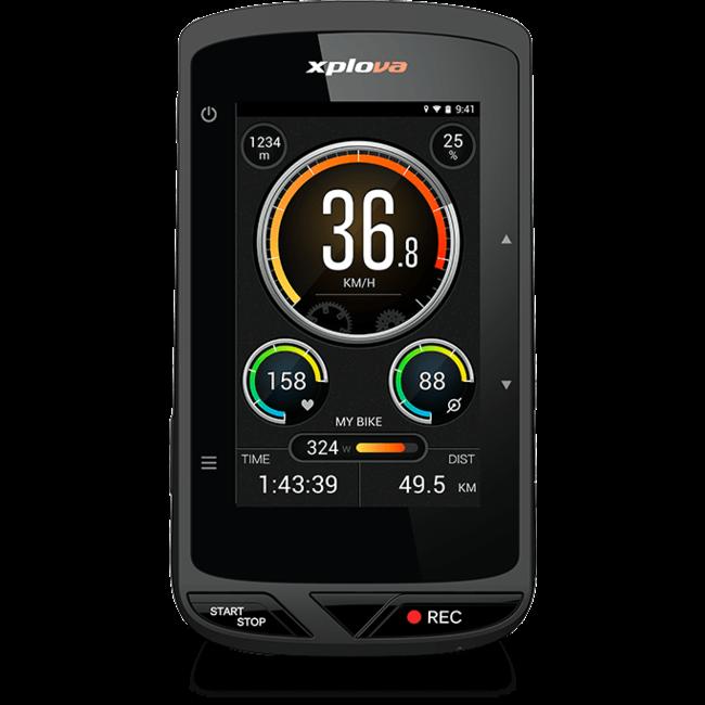 Xplova X5 Evo GPS Fietscomputer met Actioncam