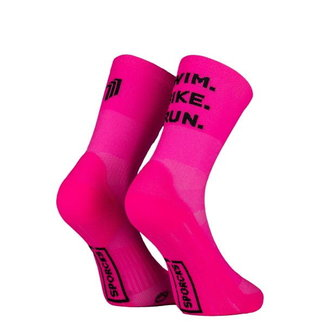 Sporcks Sporcks Swim Bike Run Rosa Triathlon-Socken