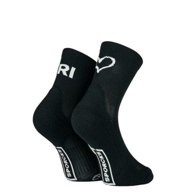 Sporcks Tri Love Six Seconds V2 Schwarze Triathlon-Socken