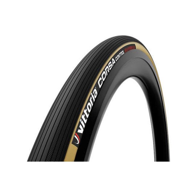Vittoria Corsa Control Beige - Schwarz Graphene 2.0 Faltbares Außenreifen-Rennrad