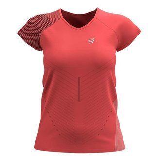 Compressport Compressport Performance Damen-Kurzarm-T-Shirt Koralle