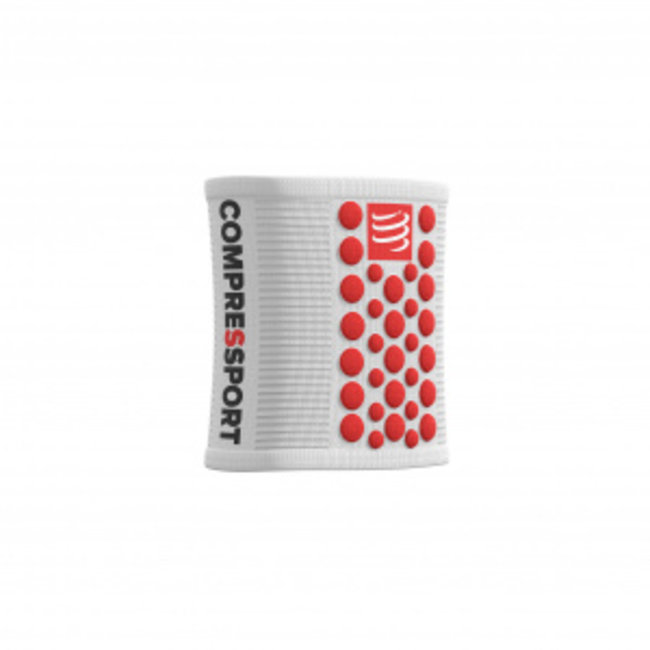 Compressport 3D Zweetband Wit/Rood