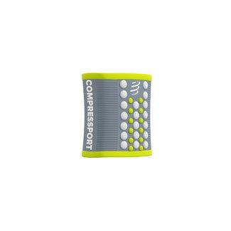 Compressport Compressport 3D Zweetband Grijs/Lime Groen