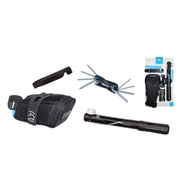 PRO Combipack Fietszadeltas + Mini Tool 10 + Pomp en Bandenlichters