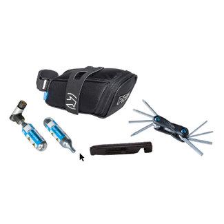 PRO PRO Combipack Fietszadeltas + Mini Tool 10 + Co2 Pomp en Bandenlichters