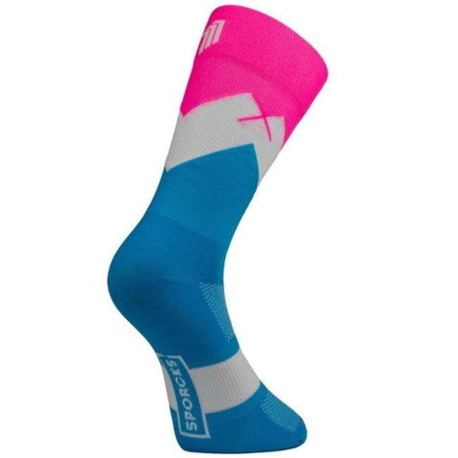Sporcks Mont Tendre Blau Radfahren Socken