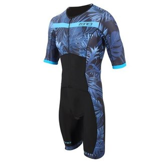Zone3 Zone3 Activate+ Tropical Palm Trisuit Men Short Sleeves