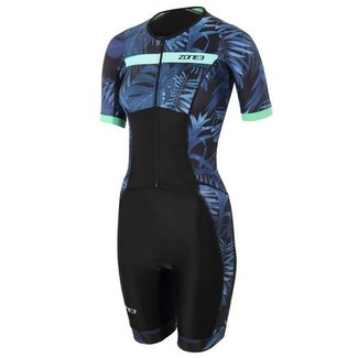 Zone3 Zone3 Activate+ Tropical Palm Trisuit Women Short Sleeves