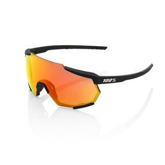 100% Eyewear 100% Racetrap Fahrradbrille Schwarzer Rahmen Rote Linse
