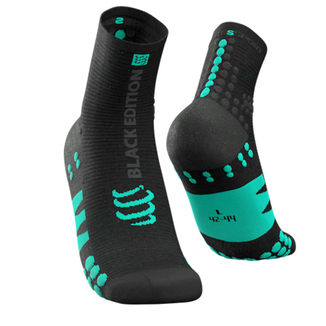 Compressport Hardloopsokken PRORACING Black Edition High Ultralight V3.0 Zwart
