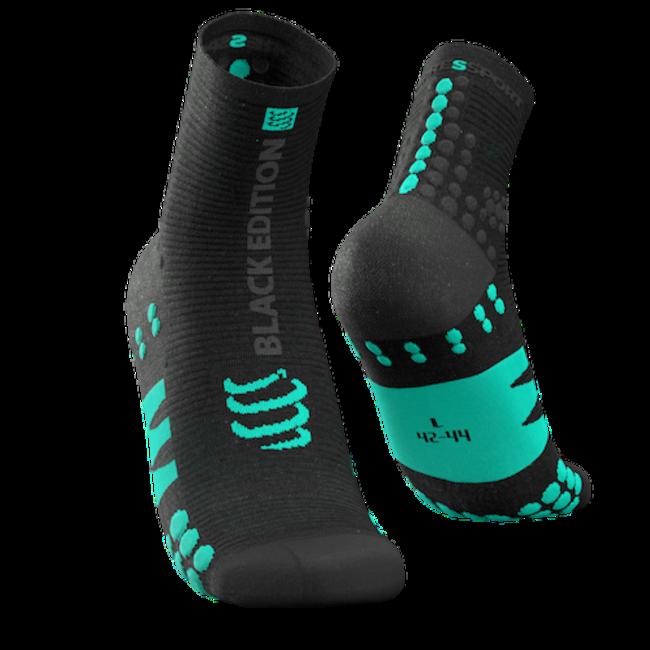 Compressport PRO RACING V3.0 Black Edition Run High Sokken Zwart