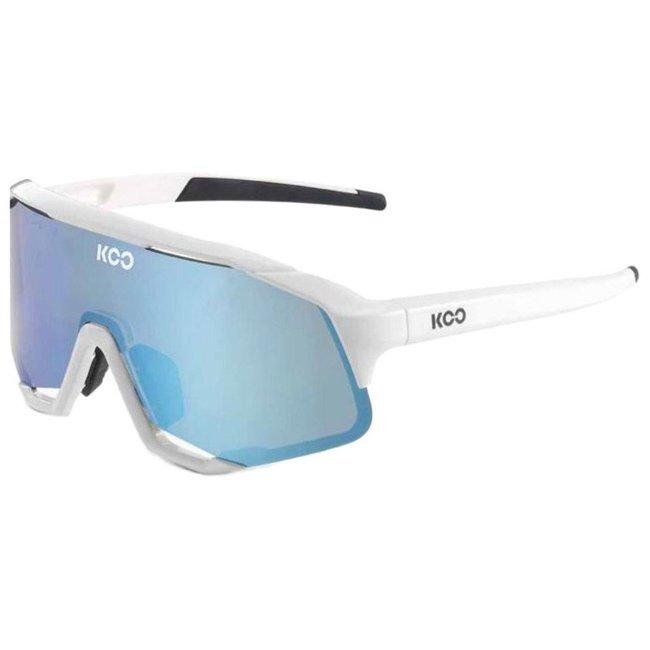 Kask Koo Demos Cycling Sunglasses White/Turquoise CAT.3 - VLT 11%