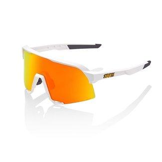 100% Eyewear 100% S3 Fahrradbrille Weißer Rahmen Rote Linse