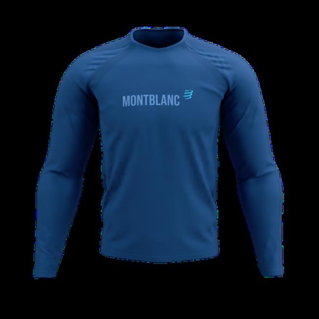 Compressport Training Lange Mouwen T-Shirt Blauw Mont Blanc 2021 Heren