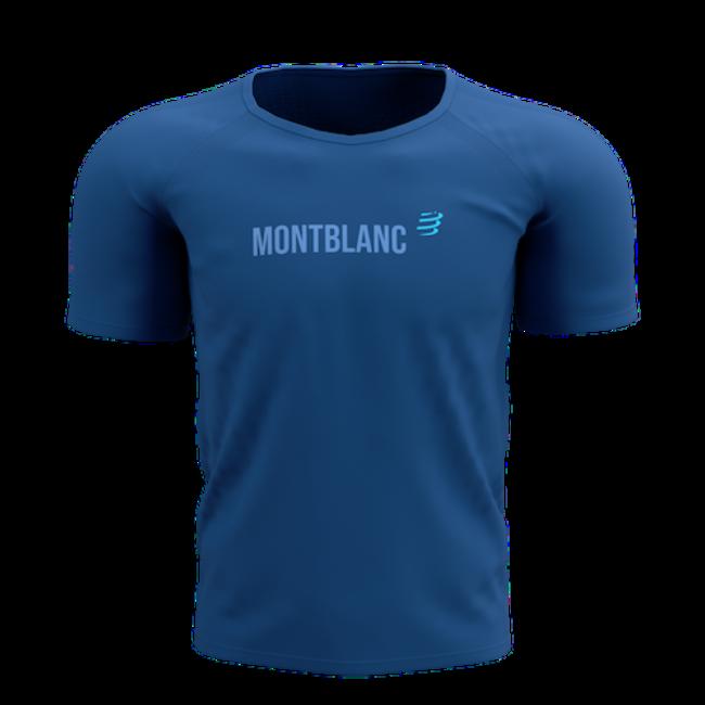Compressport Training Kurzarm T-Shirt blau Mont Blanc 2021 Herren