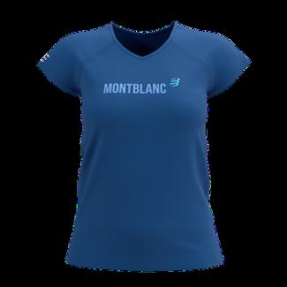 Compressport Compressport Training Kurzarm T-Shirt Blau Mont Blanc 2021 Damen
