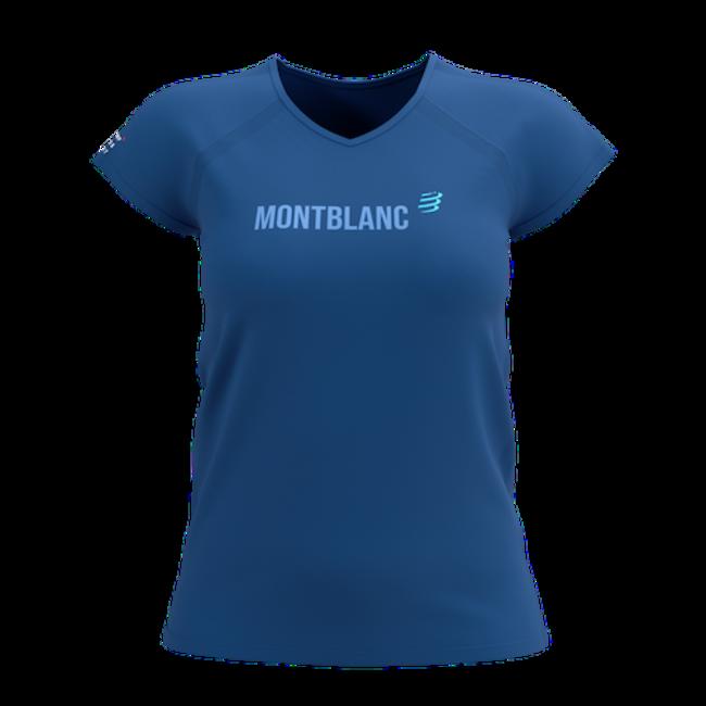 Compressport Training Kurzarm T-Shirt Blau Mont Blanc 2021 Damen