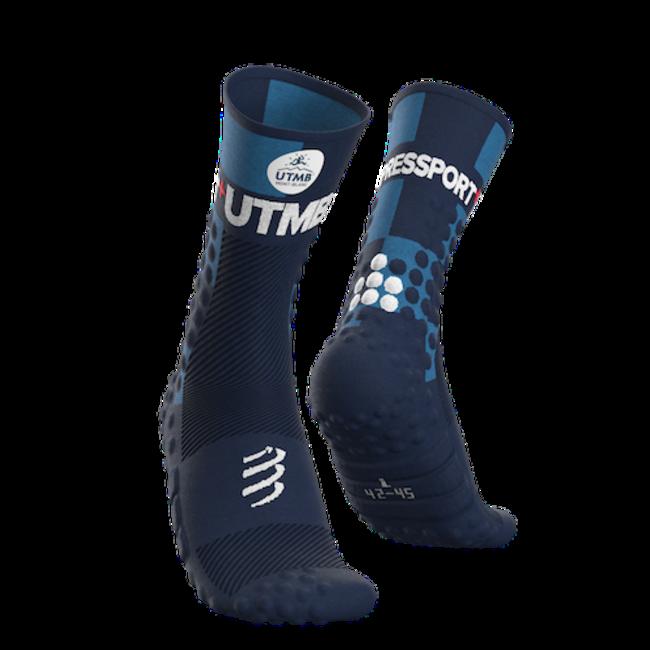 Compressport PRO RACING V3.0 UTMB  High Ultra Trail Sokken Blauw