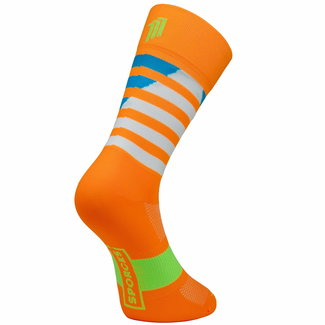 Sporcks Sporcks Larrau Orange Radfahren Socken