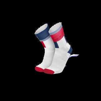 Incylence Incylence Zones Navy Rote Radsport-Socken