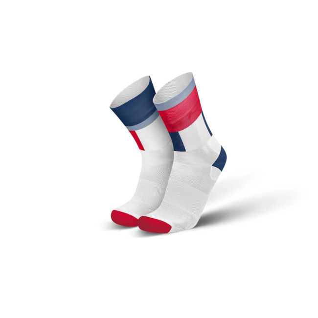 Incylence Zones Navy Red Cycling Socks