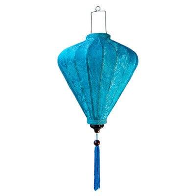 Vietnamese zijden lampion blauw