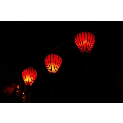 Vietnamese zijden lampion rood