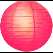 Fuchsia roze lampion van rijst papier