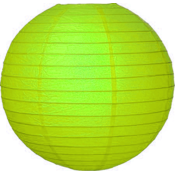 Groene lampion van rijstpapier