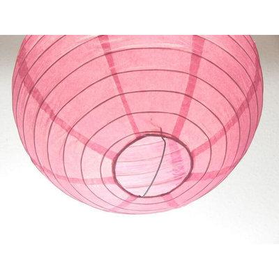 Roze lampion van rijstpapier